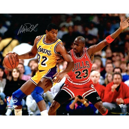 Magic Johnson Los Angeles Lakers Autographed 16