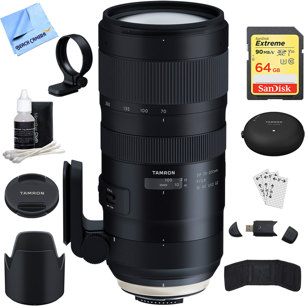 Tamron SP 70-200mm F 2.8 Di VC USD G2 Lens (A025) for Nikon Full-Frame (AFA025N-700) with TAP-In Console Lens... by Tamron