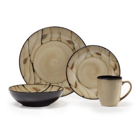 Pfaltzgraff Briar 16-Piece Round Stoneware Dinnerware Set