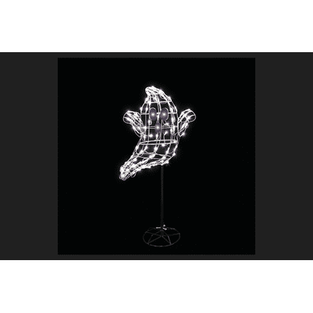 Santa's Best Floating Ghost LED Lighted Halloween Decoration White 60 in. H x 9 in. W x 22.5 in.
