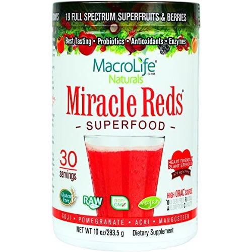 MacroLife Naturals Miracle Reds Superfood Powder, 10.0 Oz
