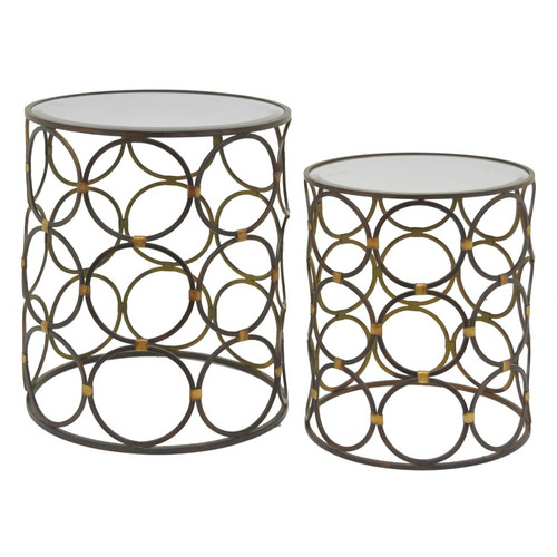 Three Hands 2 Piece End Tables