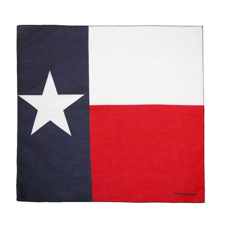 Texas Flag Bandana, Texas Flag, 100% Cotton By CTM ()