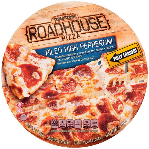 TOMBSTONE Roadhouse Piled High Pepperoni Frozen Pizza 22.2 oz.
