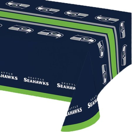 Creative Converting Seattle Seahawks Plastic Tablecloth, 54