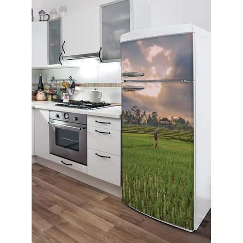 ADZif Domo Rice Fields in Bali Wall Decal