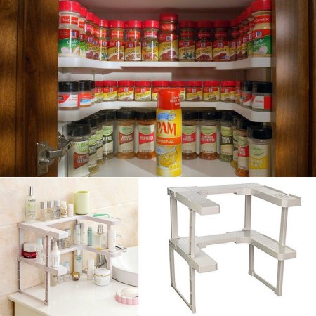 2017 New Adjustable Spicy Shelf Patented Spice Rack and Stackable Organizer by