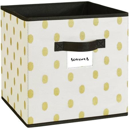 f655da97c67 Nw Storage Box Cube 12x12-white gold Dot - Walmart.com