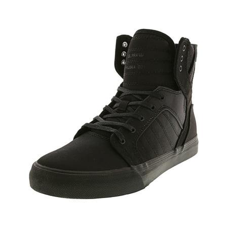 Supra Skytop Black / Fade High-Top Canvas Fashion Sneaker - 6M