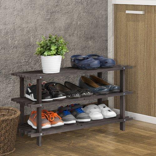 Wildon Home 3-Tier 9 Pair Shoe Rack by Windward Furniture