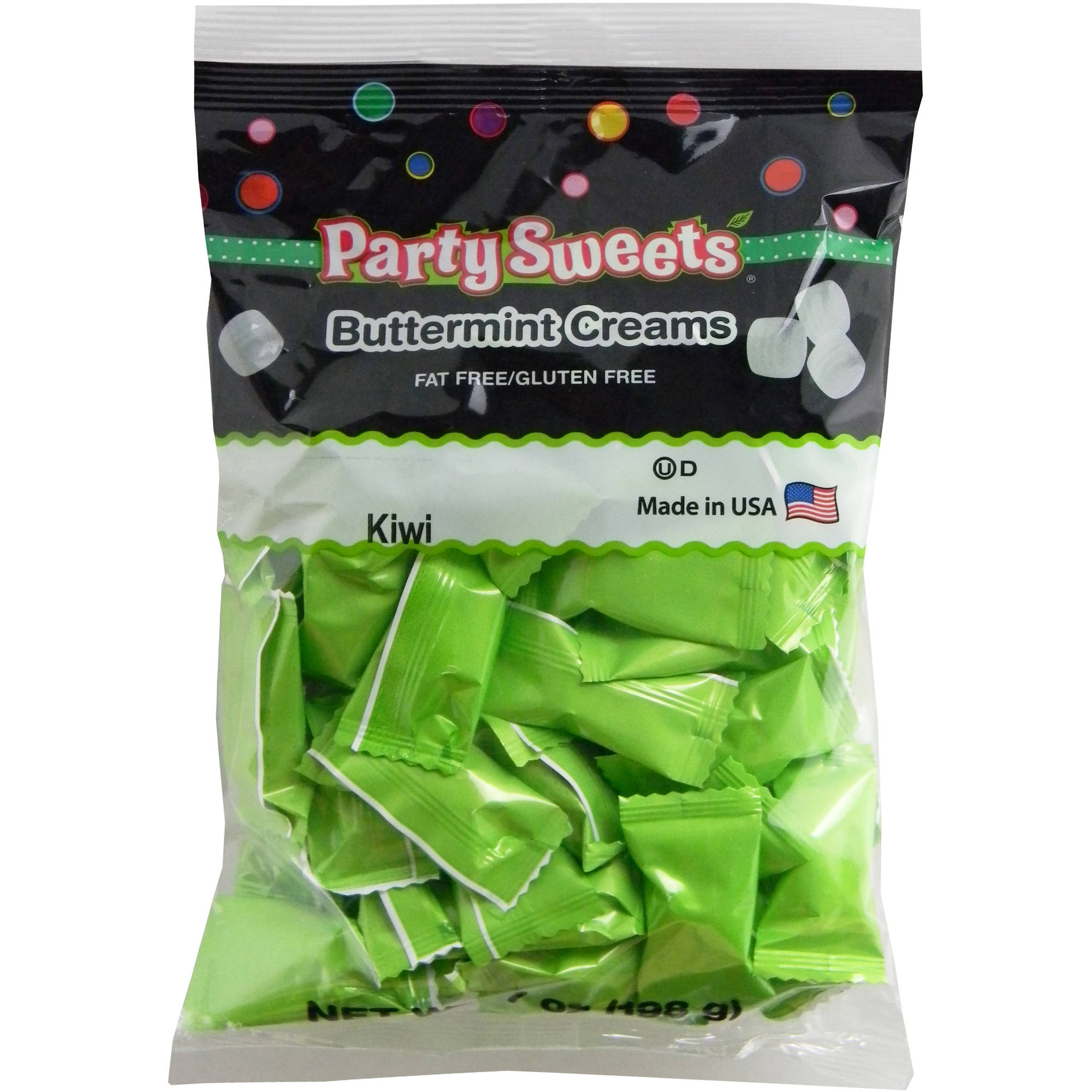 Party Sweets Kiwi Buttermint Creams Candy, 7 oz
