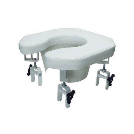 Lumex Multi-Position Open Padded Raised Toilet Sea Open Padded Raised Toilet Seat