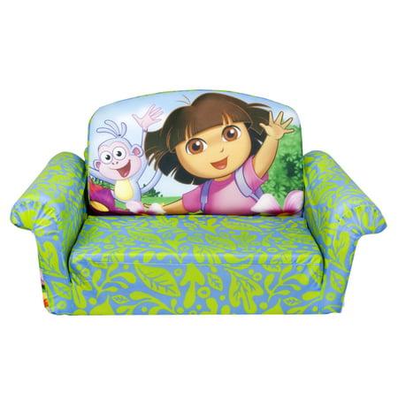 Amazing Marshmallow Dora The Explorer Flip Open Sofa Walmart Com Machost Co Dining Chair Design Ideas Machostcouk