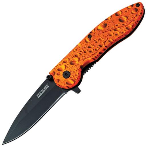 Tac Force Linerlock A/O Orange Raindrop Knife TF-463WO Multi-Colored