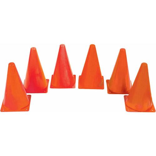 """9"""" Orange Spectrum Cones, Set of 6"""