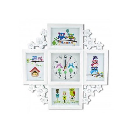 Kole Imports Owl Clock Collage Photo Frame Wall Clock - Owl Photo