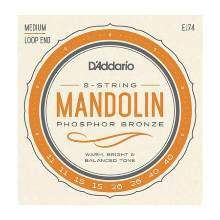 D'Addario EJ74 Mandolin Strings, Phosphor Bronze, Medium,