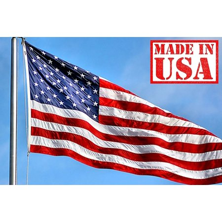 f26543a03d25 US Flag Factory 4 x6  US American Flag Outdoor SolarMax Nylon Flag ( Embroidered