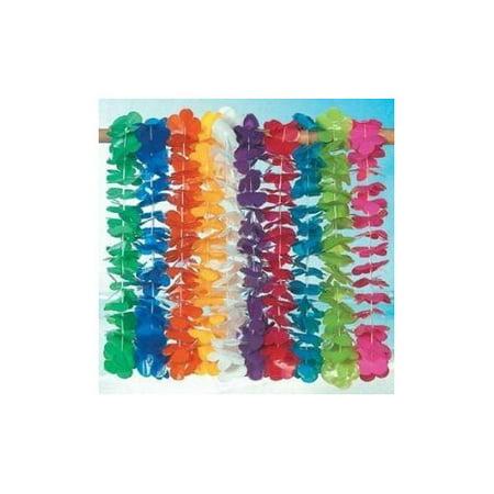 Mega Plastic Lei assortment (100 plastic flower leis) (Maile Lei)