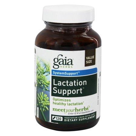 Gaia Herbs - Lactate Support Liquid Phyto Caps - 120 Vegetarian Capsules