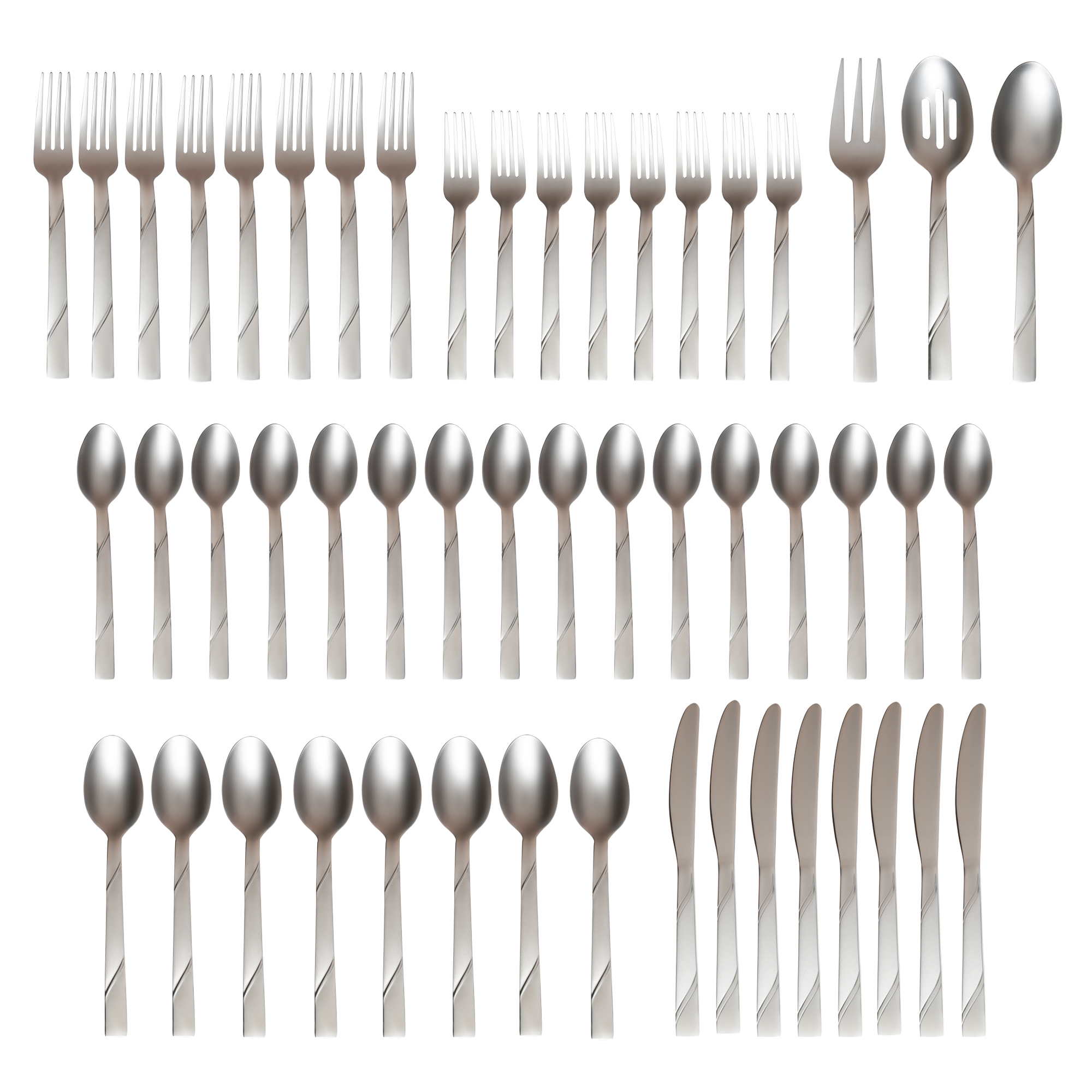 Cambridge Silversmiths Tessa Sand 51pc Flatware Set, Service for 8