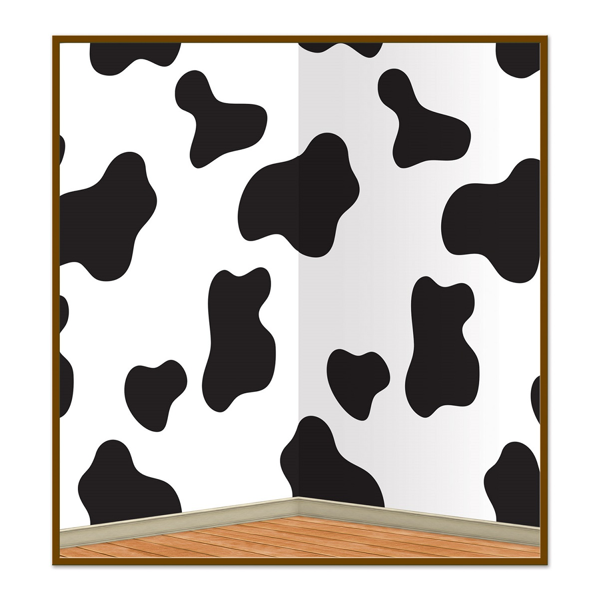 Pack of 6 Black and White Cow Print Backdrop Party Decorations 30'