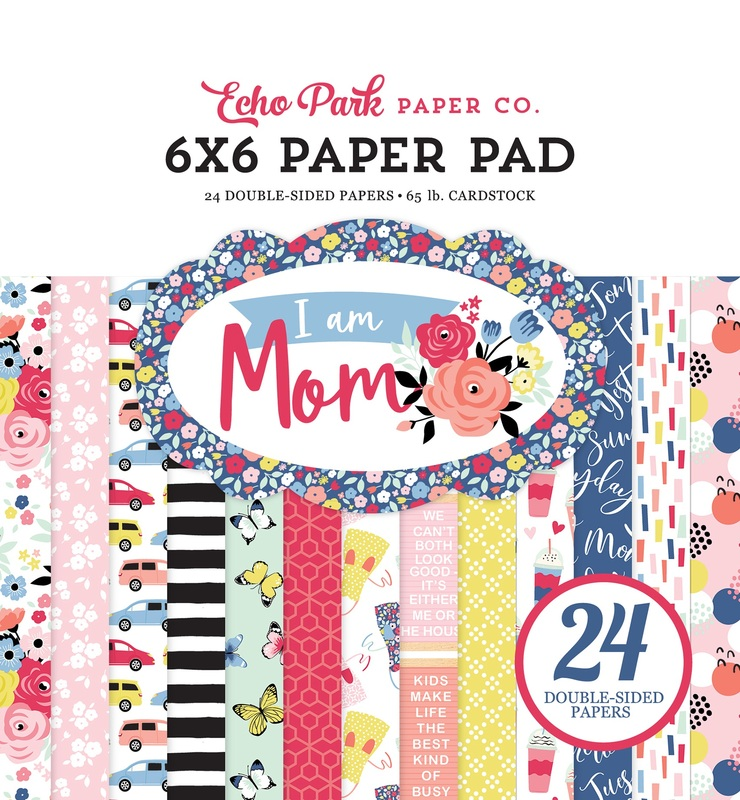 "Echo Park Double-Sided Paper Pad 6""X6"" 24/Pkg-I Am Mom, 12 Designs/2 Each"