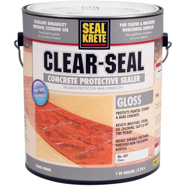 Seal Krete® Clear-Seal Clear High Gloss Sealer 1 gal. Can