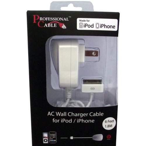 Professional Cable Wall Charger for iPod/iPhone/iPad