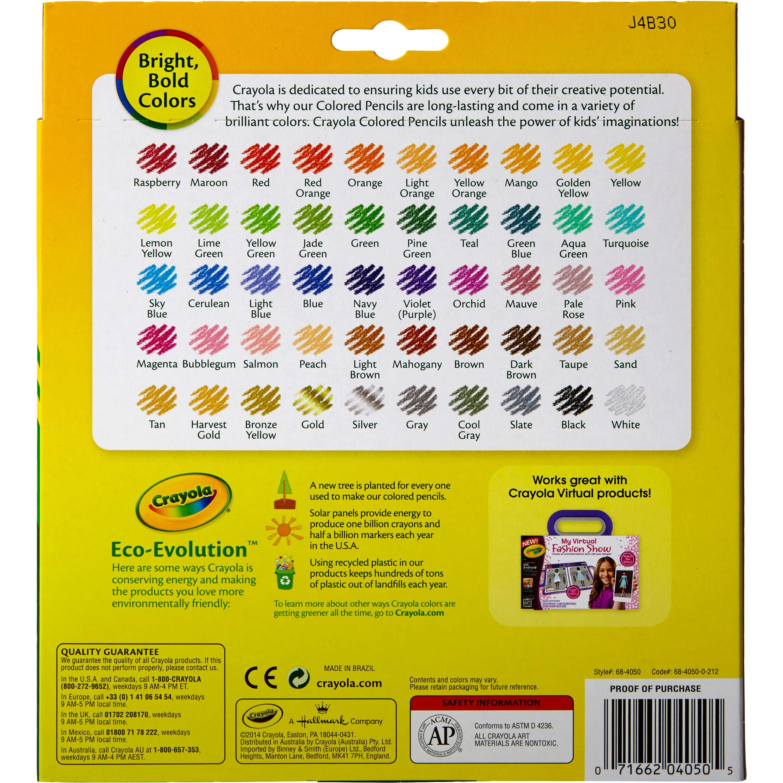 Crayola Colored Pencils - 7 inches - 50 Count - Walmart.com