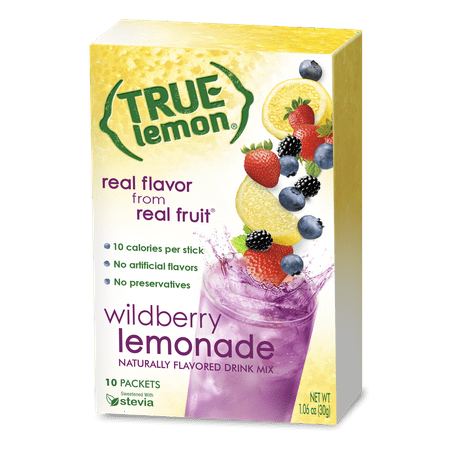 ((2 Pack) True Lemon Drink Mix, 1.06 Oz, Wildberry Lemonade, 10 Packets (Pack of 1))