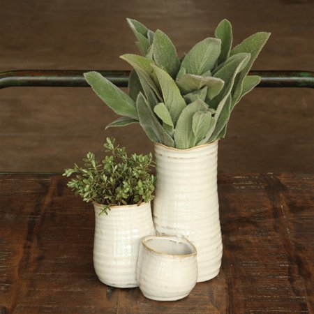 Bower Tall Triple Clustered Ceramic - Ceramic Vases