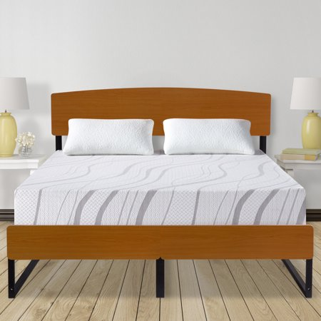 "GranRest 14"" Metal Platform Bed with Headboard and Footboard, Full - Walmart.com"