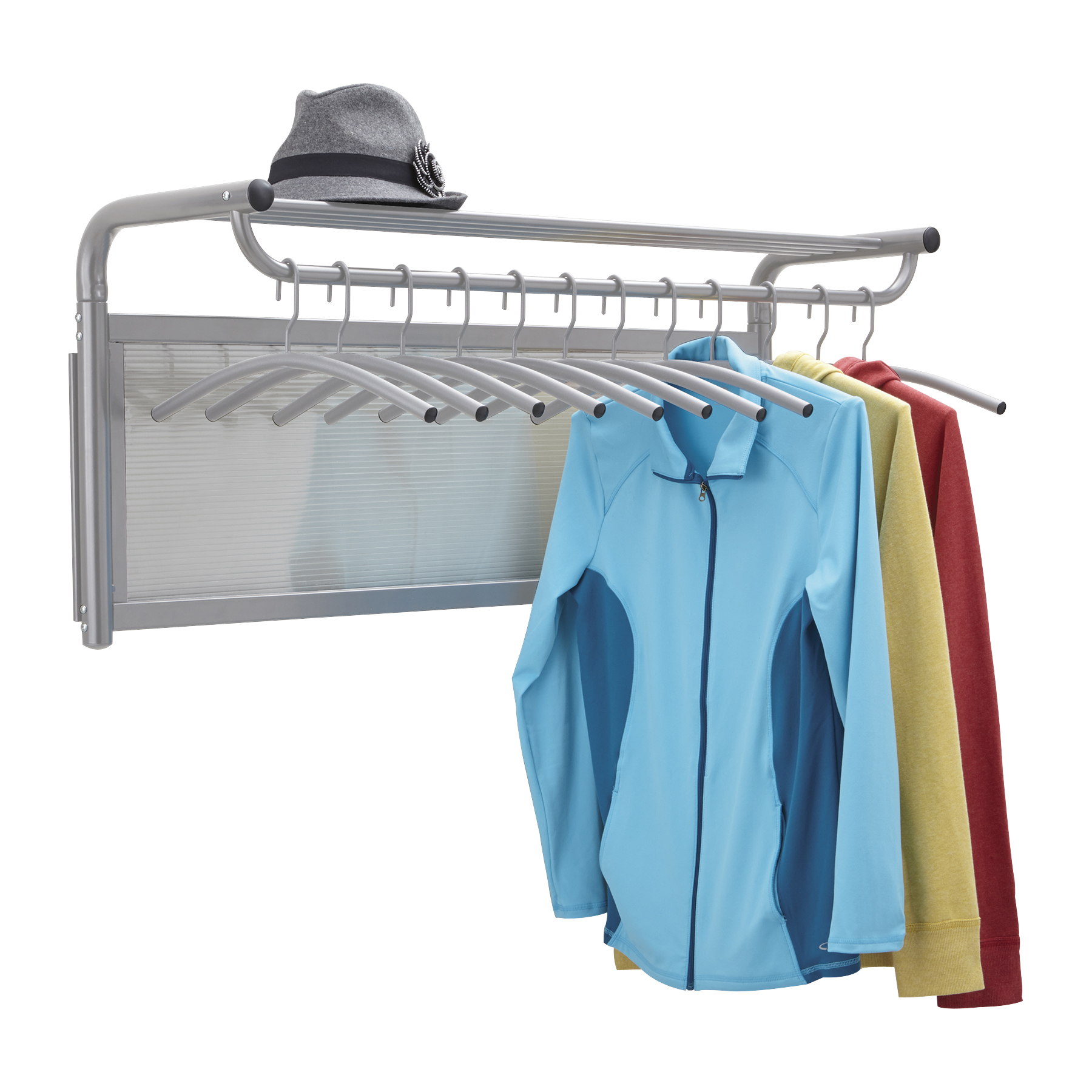 Safco 4604GR Coat Racks Impromptu Coat Wall Rack with Hangers