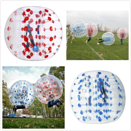 Imeshbean 2Pcs 1 5M Red   Blue Body Inflatable Bumper Football Pvc Zorb Ball Human Bubble Soccer Ball