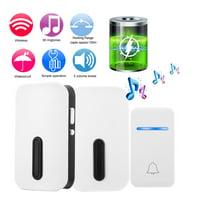 Home Security Wireless Self-generating Doorbell Alarm Waterproof Door Bell Kit 38 Chime US Plug, Self-generating Doorbell, Waterproof Doorbell