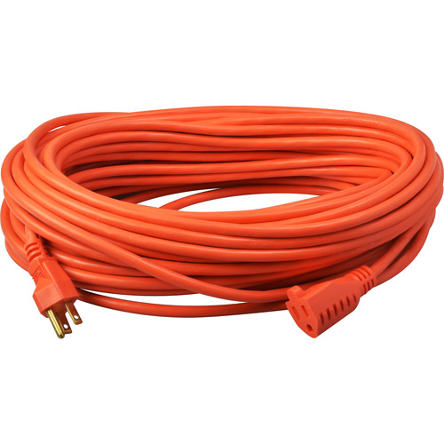 Coleman Cable 100' Orange Outdoor Extension Cord
