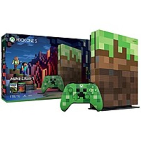 Refurbished Microsoft Xbox One S Minecraft Limited Edition Bundle (1TB) -  Game Pad Supported - Wireless - AMD Radeon Graphics Core Next - 3840 x 2160