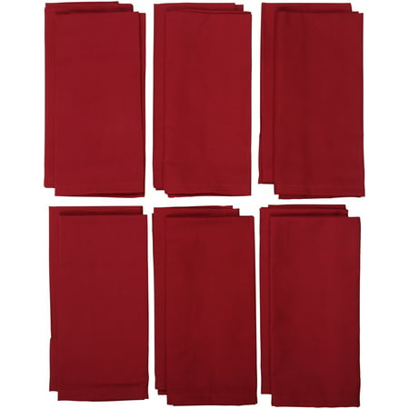 Mainstays Red Sedona Napkins, Set of 12 (Table Napkins)