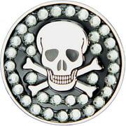Bella Crystal Golf Ball Marker & Hat Clip - Skull & Bones