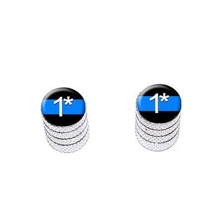 Thin Blue Line One Asterisk - Bike Valve Stem Caps