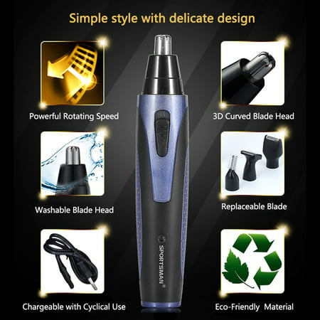 Automatic Rechargable Ear Nose Beard Eyebrows Hair Removal Trimmer Electric Face Shaver Set, Men Trimmer Kit, Men Beard Trimmer