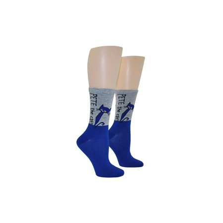 Adult Pete the Cat Crew Socks - Cat In The Hat Socks