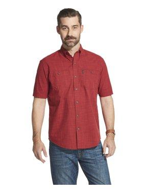 e1864a4f2 Product Image Men s Big and Tall Arrow Coastal Cove Crosshatch Short Sleeve  Button Down Shirt