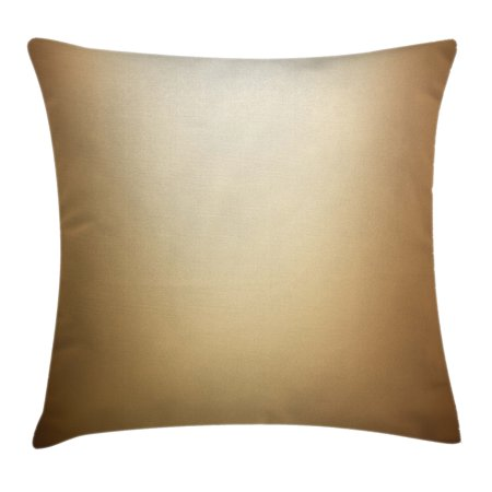 Tan Throw Pillow Cushion Cover, Abstract Gradient Display Soft Golden Brown Colored Plain Modern Digital Print, Decorative Square Accent Pillow Case, 18 X 18 Inches, Light Brown Tan, by Ambesonne (Plain Decorative Pillow Cases)