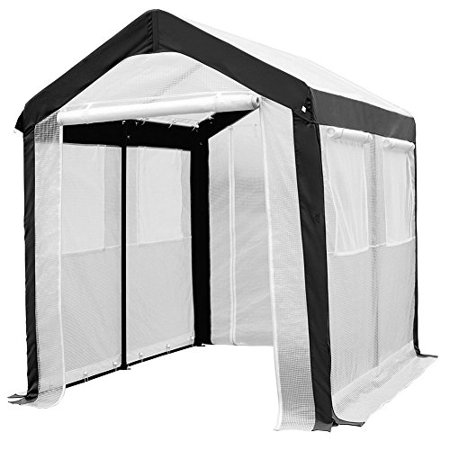 Abba Patio 6 x 8-Feet Large Walk in Fully Enclosed Lawn and Garden Greenhouse with Windows, White ()
