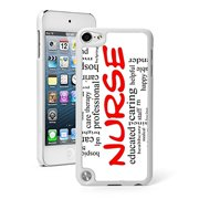 For Apple iPod Touch 5th / 6th Generation Hard Back Case Cover Nurse RN Words (White)