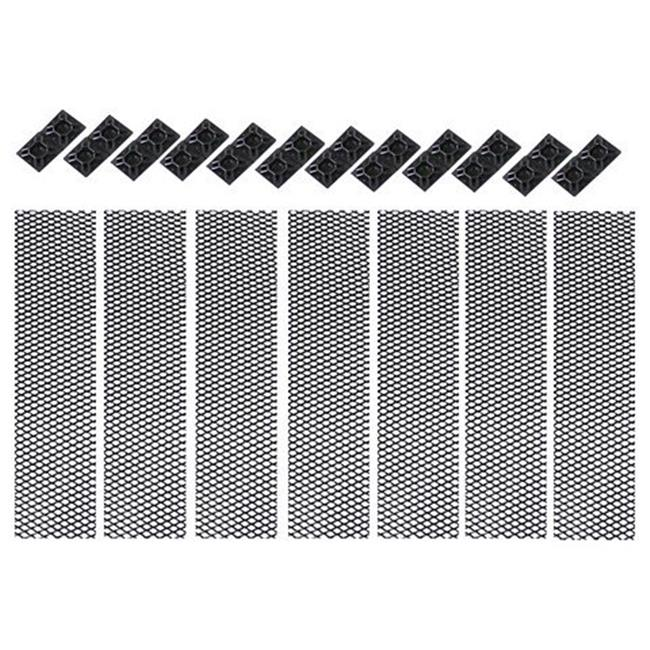 Grille Mesh Insert for 07 to 14 Jeep Wrangler, 2 x 13 x 10 in.
