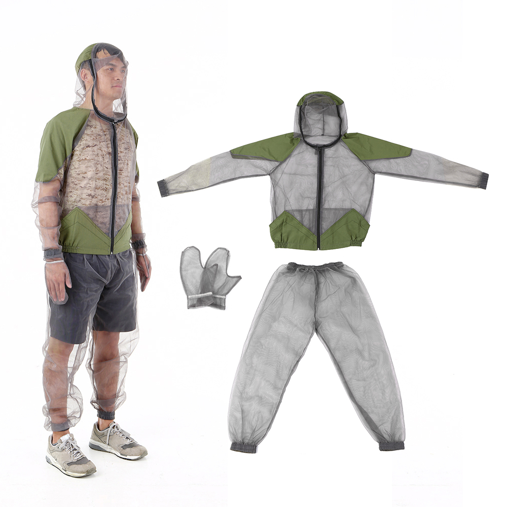 Outdoor Anit-Mosquito Clothing Mesh Full Suit Insect Repellent Jacket Pants Set