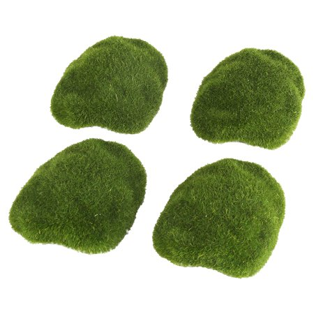 Qiilu 12Pcs Green Artificial Moss Stones Simulation Grass Bryophyte Bonsai Garden DIY Landscape Decor, Simulation Moss, Artificial Moss Stone - image 8 of 8